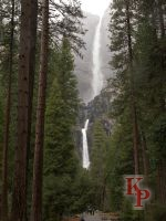 Yosemite Falls, April, Cloudy