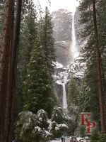 Yosemite Falls, April, Falls After snowfall