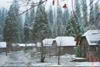 Yosemite Lodge Cabins in the Snow, Yosemite National Park