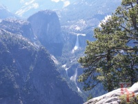 Vernal and Nevada Falls, Glacier Point, early, Yosemite