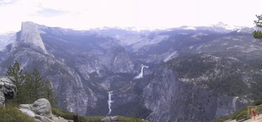 Vernal and Nevada Falls, Washburn Point, Yosemite